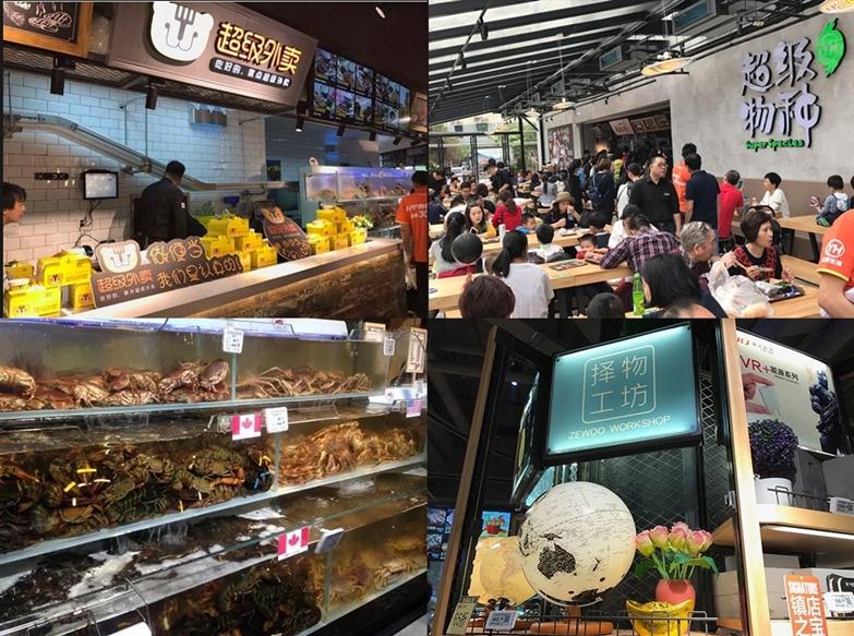 中国、スーパーマーケット